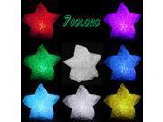 5 Packs RGB Colorful LED Star Christmas/Valentine/Wedding Decoration Night Light
