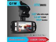 "Novatek96650 Portable 2.7"" Car DVR Camera 1080P FHD H.264 G-sensor WDR Recorder Camcorder 140 Wide Angle G1W"