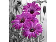 DIY Handmade Diamond Painting Set Purple Flowers Resin Rhinestone Pasted Cross Stitch