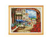 DIY Handmade Needlework Counted Cross Stitch Set Embroidery Kit 14CT Mediterranean Scenery Pattern Cross-Stitching 9SIA1GK3563468