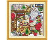 32*32cm DIY Handmade Counted Cross Stitch Needlework Set Embroidery Kit the Workroom of Santa Claus Home Decoration 14CT 9SIA1GK3CA2789