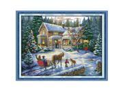 57*44cm DIY Handmade Counted Cross Stitch Needlework Set Embroidery Kit Christmas Scenery Home Decoration 14CT 9SIA1GK3CA3215