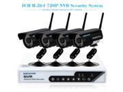 szsinocam 4CH HD 720P H.264 NVR Kit with 4pcs IP Camera 36IR LEDs Security System
