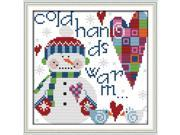 22 * 21.7cm DIY Handmade Counted Cross Stitch Set Embroidery Needlework Kits Christmas Snowman Pattern Cross Stitching Home Decoration 14CT 9SIA1GK3DB5551