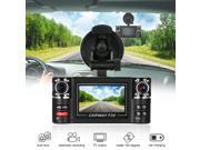 "F30 Dual Lens Car Driving Recorder 2.7"" HD Car DVR Dash Camcorder"