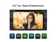 6.2 Universal 2 Din HD Car Stereo DVD Player Bluetooth Radio Entertainment Touch Screen FM Radio USB Port