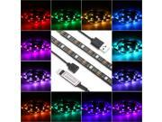 2M 14W 60 LED USB Flexible RGB LED Strip Light SMD5050 RF Remote Control Light with Adhesive Tape 22 Dynamic Modes 20 Static Colors 8 Levels Brightness for New