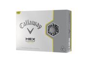 Callaway Hex Chrome Yellow Golf Balls