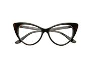 Super Cat Eye Glasses Vintage Inspired Mod Fashion Clear Len