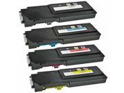 TMP Compatible Dell C3760DN / C3760N / C3765NF Set of 4 Toner Cartridges: 1 Black 331-8429, 1 Cyan 331-8432, 1 Magenta 331-8431 and 1 Yellow 331-8430