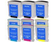 INKUTEN 9 PACK:  HP Compatible 3-C4844A ,2-C4836A (HP 11 Cyan) ,2-C4838A (HP 11 yellow) ,2-C4837AN (HP 11 Magenta)