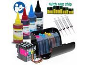 INKUTEN CISS for Brother LC 201 LC201 with Extra 4x100ml Dye Ink Bottle Set MFC-J460DW MFC-J480DW MFC-J485DW MFC-J680DW MFC-J880DW MFC-J885DW Printers
