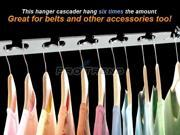 Set of 2 Steel Hanger Cascaders Household Space Saving Clothes Belts Ties Rack Organized