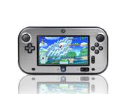 Silver Hard Aluminium + PC Skin Case Cover For Nintendo Wii U Gamepad Remote Controller