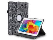 """Samsung Galaxy Tab Pro 10.1 / Note 10.1 Case - 360 Degree Rotating PU Leather Smart Cover Stand For Samsung Galaxy Tab Pro 10.1"""" T520 T525 and Galaxy Note 10.1"""" N8000 N8010 N8013 Zebra Black & White"""