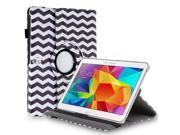 """Samsung Galaxy Tab Pro 10.1 / Note 10.1 Case - 360 Degree Rotating PU Leather Smart Cover Stand For Samsung Galaxy Tab Pro 10.1"""" T520 T525 and Galaxy Note 10.1"""" N8000 N8010 N8013 Wave Black"""