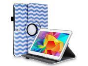 """Samsung Galaxy Tab Pro 10.1 / Note 10.1 Case - 360 Degree Rotating PU Leather Smart Cover Stand For Samsung Galaxy Tab Pro 10.1"""" T520 T525 and Galaxy Note 10.1"""" N8000 N8010 N8013 Wave Blue"""