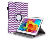 """Samsung Galaxy Tab Pro 10.1 / Note 10.1 Case - 360 Degree Rotating PU Leather Smart Cover Stand For Samsung Galaxy Tab Pro 10.1"""" T520 T525 and Galaxy Note 10.1"""" N8000 N8010 N8013 Wave Purple"""