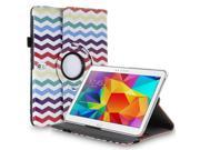 """Samsung Galaxy Tab Pro 10.1 / Note 10.1 Case - 360 Degree Rotating PU Leather Smart Cover Stand For Samsung Galaxy Tab Pro 10.1"""" T520 T525 and Galaxy Note 10.1"""" N8000 N8010 N8013 Wave Rainbow"""