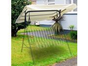 "75""x52"" Swing Canopy Cover Deluxe Polyester Replacement Porch Top Outdoor Garden Yard Patio Park Seat Furniture UV Block Sun Shade Waterproof Beige 75 x 52 inch"