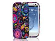 Samsung Galaxy S3 Case - Slim Fit Jellyfish Flower Embossed Design Soft Rubber TPU Protective Skin Case Cover For Samsung Galaxy S3 S III I9300 Black