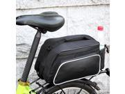 Roswheel Bicycle Rear Tail Seat Pannier Bag Bike Cycling Pouch Storage Trunk Rack Also As Shoulder Bag or Handbag Back Black with 2 Sides and 1 Bottle Pockets R 9SIA1HE2SA8434