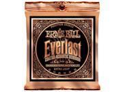 Ernie Ball Acoustic Guitar Strings  - Everlast Phosphor Bronze Coated - 10-50