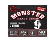 Cleartone Monster 7-String Electric Guitar Strings - Nickel - Super Light 09-52 9SIAD247WX3830