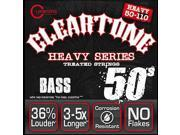 Cleartone Heavy Series Bass Guitar Strings 4 String 6550 50 110 Treated