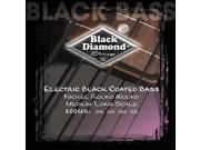 Black Diamond Bass Guitar Strings Black Coated 4 String Nickel Wound MED 45-105