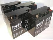 12V 18AH SLA Battery for APC SU1400XLTNET  replacement RBC11 Maintenance-Free Lead Acid Battery-4Pack