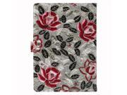 "JAVOedge Gray / Pink Peony Leaves Pattern Universal Book Case for 7-8"" Tablets, iPad Mini, Samsung Tab, Nexus 7, Nook HD"