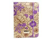 JAVOedge Purple Poppy Print Book Style Case with Stand, Hand Strap, Angled Grooves for the Apple iPad Mini, iPad Mini 2