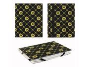"JAVOedge Golden Daisy 6"" Universal eReader Book Case for the Nook Touch, Glowlight, Kobo Glo, Touch, Kindle (Black)"