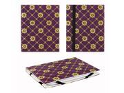 "JAVOedge Golden Daisy 6"" Universal eReader Book Case for the Nook Touch, Glowlight, Kobo Glo, Touch, Kindle (Purple)"