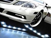 M.Benz Style L Shaped 6 LED DRL Daytime Running Light Kit For AUDI A6