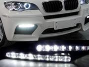 Euro Style 7 LED DRL Daytime Running Light Kit For JEEP CJ