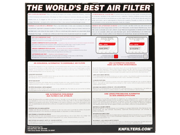 K&N Filters E-1535 Air Filter; Round; H-2 7/8 in.; ID-11 in.; OD-12.5 in.; 9SIV04Z3WJ7636
