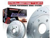 PowerStop K1304 Vented Front Brake Kit Drilled & Slotted Cast Iron