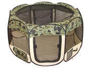 BestPet Pet Tent Puppy Playpen Exercise Pen - M - Camouflage