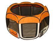 Orange Pet Dog Cat Tent Puppy Playpen Exercise Pen M