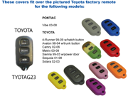 Purple Silicone Key Fob Cover Case Smart Remote Pouches Protection Key Chain Fits Toyota Sienna 99 03 w power door