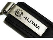 Nissan Altima Black Leather Key Fob Authentic Logo Key Chain Key Ring Keychain Lanyard KC1540.ALT