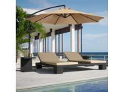 10' Hanging Patio Umbrella Offset (Tan)