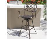 Outdoor Cast Aluminum Swivel Bar stool Patio Furniture Antique Copper Design