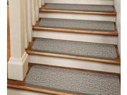 Set of 12 Tape-Down Carpet Stair Treads - Pistachio Green - 8 In. X 30 In.