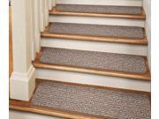 Set of 12 Tape-Down  Carpet Stair Treads - Praline Brown - 8 In. X 30 In.