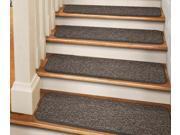 Set of 12 Tape-Down Carpet Stair Treads - Pebble Gray - 8 In. X 30 In.