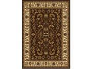 """Home Dynamix Area Rugs: Royalty Rug: 3208-511 Brown Ivory 5'2""""x7'2"""