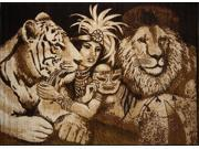 """Home Dynamix Area: Zone Rug: 7504: Jungle Queen Rug 3' 7""""x5' 3"""